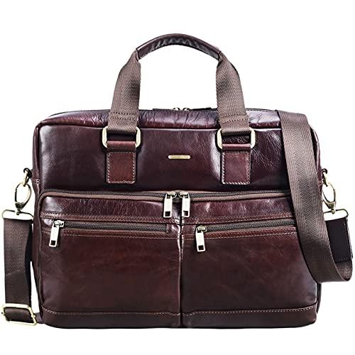 STILORD 'Vito' Vintage Businesstasche Leder Herren Damen 14 Zoll Laptoptasche...