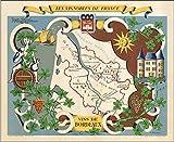 Wein de Bordeaux Poster Reproduktion – Format 50 x 70 cm