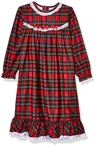 Little Me Girls' Toddler Xmas Plaid Pajamas, 2T