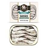 Otter Kingdom Two Layer Brisling Sardines in Extra Virgin Olive Oil Wild Caught, 3.75-OZ(Pack of 12)