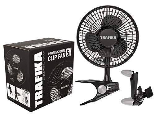 TRAFIKA Clipfan 15cm 5W/Magnetischer Motor / Exklusive Klemme zur direkten Befestigung an den Stangen Growzelten/2 KLAMMERN:Tischklammer Klammer für die Stangen von Growzelten