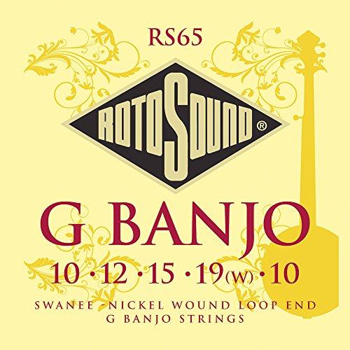 Rotosound RS65 - Juego de cuerdas para banjo de níquel en
