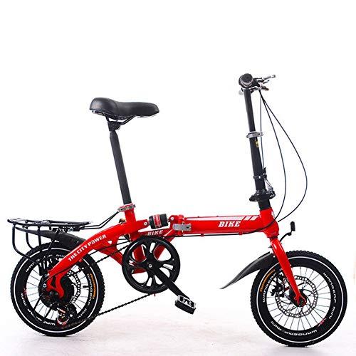 KXDLR vouwfiets, mannelijke en vrouwelijke kleine opvouwbare fiets, 16