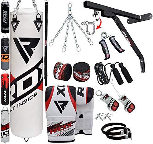 RDX Saco de Boxeo Relleno MMA Muay Thai Kick Boxing Artes Marciales con Soporte Pared Cadena Guantes 17PC 4FT 5FT Punching Bag