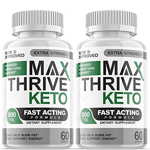 Max Thrive Keto Advanced Weight Management Support Ketosis Supplement Pills (2 Pack)
