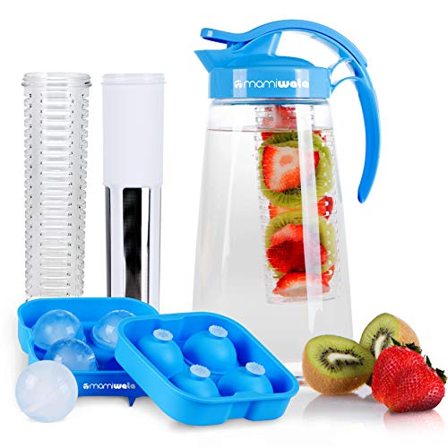 Fruit & Tea Infusion Water Pitcher - The PERFECT Gift - Free Ice Ball Maker - Free Infused Water...