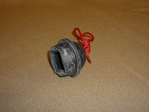 Southern Game Rooms Black Rubber Chalk Holder on a String by