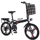 GHGJU Fahrrad aluminiumlegierung Ultraleicht klappfahrrad schalt scheibenbremsen kleines Fahrrad geeignet für bergstraßen und Regen und Schnee straßen Dieses Fahrrad ist klappbar 20 Zoll
