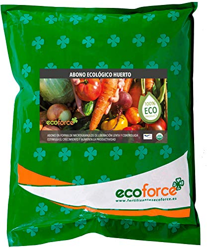 CULTIVERS Abono Ecológico Huerto de 5 Kg. Fertilizante de Origen 100% Orgánico y Natural Microgránulado. Mejora la Productividad de los Cultivos Liberación Lenta