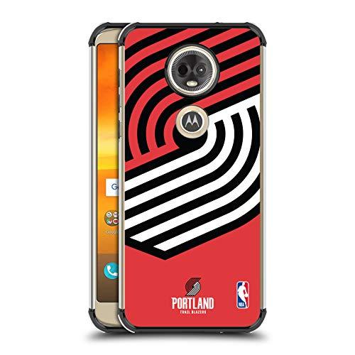 Officiële NBA Oversized pictogram Portland Trail Blazers Zwarte Shockproof Fender Case Compatibel voor Motorola Moto E5