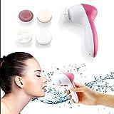 Ceanfly - Cepillo de limpieza facial, impermeable, cepillo exfoliante facial, 5 en 1, masajeador facial eléctrico portátil para todo tipo de cuidado de la piel