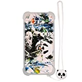 Funda para Alcatel Pop 4 5051d Funda Silicone Border + Placa Dura de la PC Stand Carcasa Case Cover XM