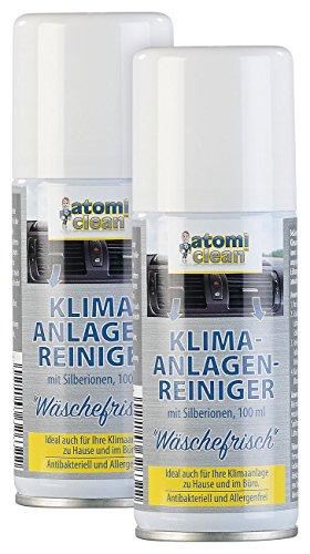 AtomiClean Klima-Desinfektionen: 2er-Set Klimaanlagenreiniger Wäschefrisch, Silberionen, allergenfrei (Klima-Anlagen-Reinigungsmittel)