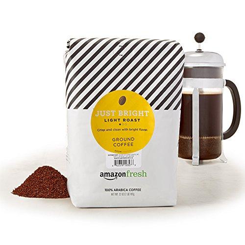 AmazonFresh Just Bright Ground Coffee, Light Roast, 32 Ounce