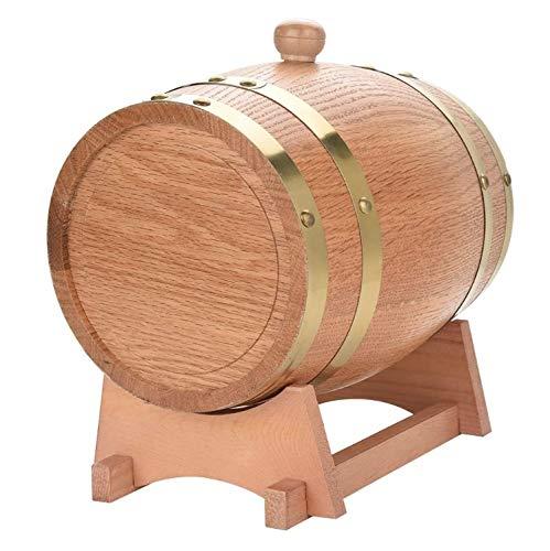 JIANGLI Roble Barril de Vino del Barril, 3 litros de Roble de Madera de la Vendimia Whisky dispensador for Ron Tequila Miel Vinagre