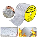 Super Waterproof Tape, Outdoor Leak Repair Aluminum Butyl Tape, Permanent Leak Proof All Weather Patch, UV Resistant VOC-Free for Pipe RV Awning Sail Roof Window Sealing (3.9 Inch x 16 Feet)