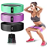 OMERIL Resistance Bands for Butt and Legs, Set of 3 Non Slip Durable Exercise Bands for Working Out, 3 Levels Booty Loops Bands Workout Bands Fitness Band for Workout Beginner to Professional
