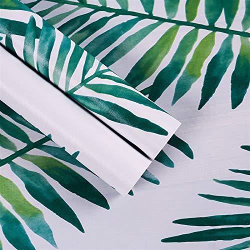 LIZHIOO Papel Tapiz De Hoja Tropical 3D, Vinilos Extraíbles De Papel Autoadhesivo Mural, Adecuado para La Pared Moderna De La Decoración del Hogar En La Sala De Niños Dormitorio De La Sala De Estar