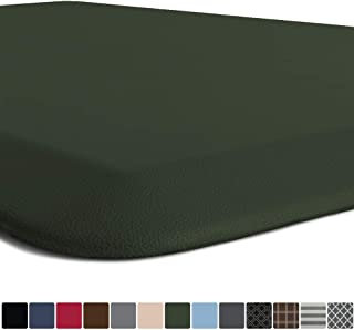 GORILLA GRIP Original Premium Anti Fatigue Comfort Mat, Phthalate Free, Ergonomically Engineered, Extra Support and Thick, Home Kitchen and Office Standing Desk Mats, 24x17, Hunter Green