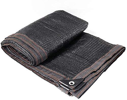 Mirui Tissu Ombre-Sun Shade 90% Crème Solaire Noire Abat-Jour en Tissu 8 Broches Net Ombrage mai Custom Made (Couleur: Noir Taille: 6x7m) Taille: 6x12m Couleur: Noir (Color : Black, Size : 8x8m)