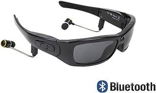 0c05c12ba9 Gafas inteligentes para deportes con cámara HD, auriculares Bluetooth  estéreo multifunción con MP3, gafas