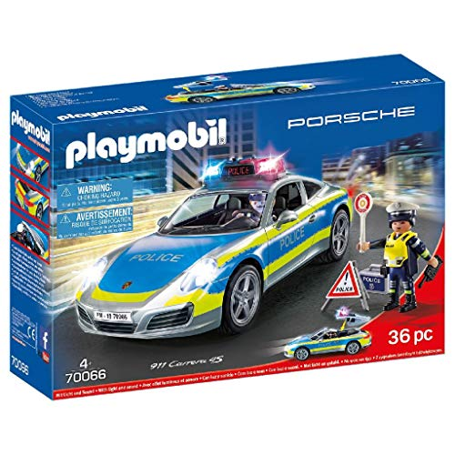 PLAYMOBIL- Porsche 911 Carrera 4S Playset de Figuras, Multicolor (70066)