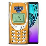 Stuff4 Coque Gel TPU de Coque pour Samsung Galaxy Note 9/N960 / Nokia 3310 Orange Design/Portables rétro Collection