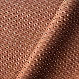 Classic Pvc Tejido Twill Accesorios De Cuero Artificial De Fondo Hecho A Mano Materiales De Decoración Interior De Pared, Ancho 138cm / 54in, Por El Medidor(Color:Rojo marrón)