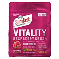 Discover a holistic way to lose weight, helping you feel great on the inside and out. The unique SlimFast Advanced Vitality shake recipe is made with selected ingredients to support your metabolism and reduce tiredness and fatigue Packed with 26g of ...