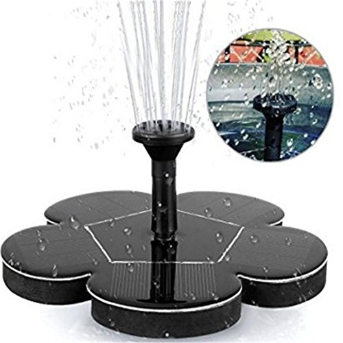 1.5W Power Outdoor Water Floating Pond Fountain Pump DokFin Solar Bird Bath Fountains Pump
