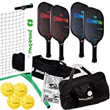 Champion Eclipse Graphite Complete Pickleball Set | Includes 3.0 Portable Net System...