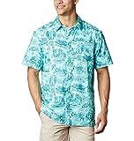 Columbia Camisa de Campamento de Marea súper Holgada para Hombre, Hombre, 1653763, Impresión de Cuentos náuticos del Golfo Stream, 4X Big