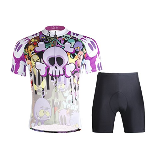 Hebike, conjunto de ciclismo con maillot de manga corta y culote para...