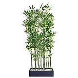 Separador de ambientes de bambú de planta artificial, altura alrededor de 140 cm