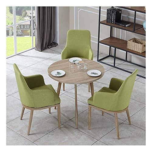 WANGQW Conjunto de Mesa de Comedor para Cocina o decoraci Combinación de Mesa y Silla Tienda de té de Ocio Restaurante Sala de conferencias algodón y Ropa 1 Mesa 3 sillas recepción