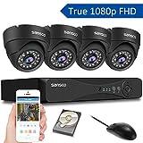 [TRUE 1080p] SANSCO 4 Channel FHD CCTV Camera System with 4 2 Mega-pixel