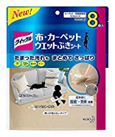 (まとめ買い)花王 クイックル 布・カーペットウエットシート 8枚 【×3】