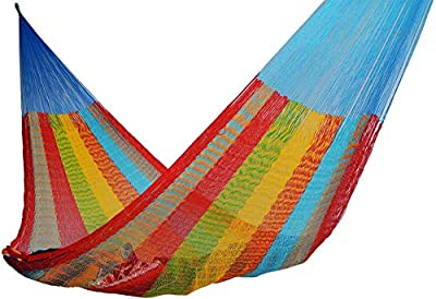Handmade Hammocks - Hammocks Rada Handmade Yucatan Hammock - Artisan Crafted in Central America - Fits Most 12 Ft. - 13 Ft. Stands - Carries Up to 330 Lbs. - Single Size
