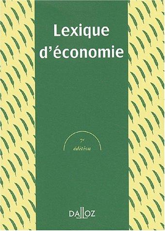 Lexique d'économie, 7e édition