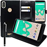 ANNART Folio Flip Case with Built-In Stand for Wiko View