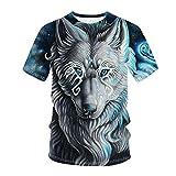 Camiseta unisex larga de corte regular impresa, para tiempo libre, senderismo, deportes al aire libre y correr azul M