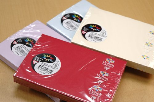 【Clairefontaine - Pollen】クレールフォンテーヌ ポレン封筒 ポストカードサイズ20枚セットアイボリー