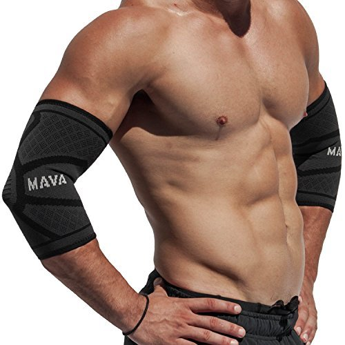 10. Mava Sports Elbow Brace Compression Sleeve