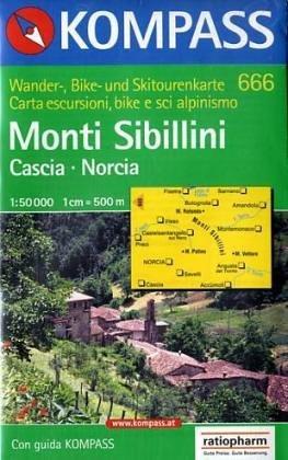 Carta escursionistica n. 666. Monti Sibillini, Cascia, Norcia 1:50.000