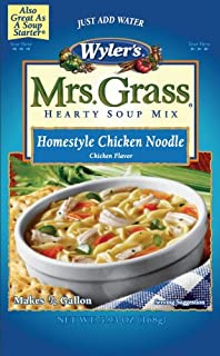 Mrs. Grass Homestyle Chicken Noodle Hearty Soup Mix (5.93 oz Pouch, Pack of 8)