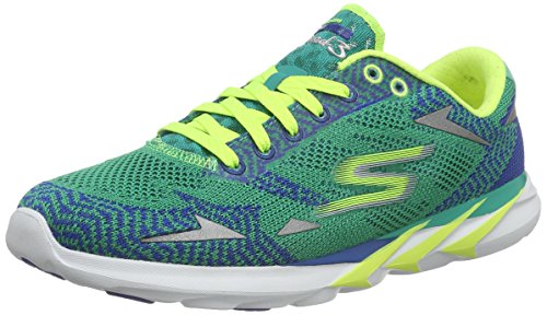 Skechers Women's Go MEB Speed 3 2016 Low-Top Sneakers Turquoise Size: 6 UK