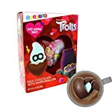 Valentine's Day Candy Trolls World Tour Milk Chocolate Heart with Marshmallow Surprise, Magic Hot Coco Melting Candy for Kids VDAY Treat or Basket Stuffer, 2.12 Ounces