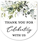 Hand Sanitizer Labels Thank You Wedding Favor Stickers - Set of 60 (Thank You for Celebrating)
