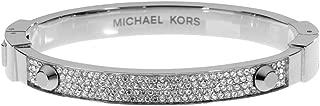 Silver-Tone Crystal Pave Astor Stud Bangle Bracelet...