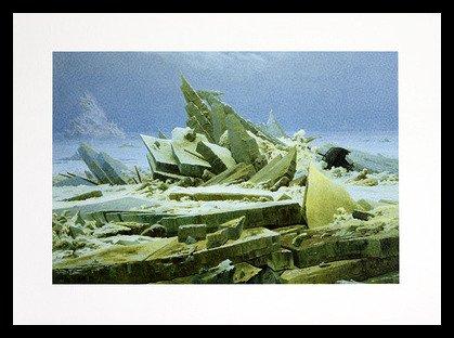 Germanposters Caspar David Friedrich el Hielo Mar (pequeño)–Póster de presión en el Marco de Aluminio en Negro